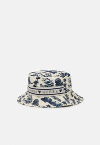 Guess - BUCKET HAT UNISEX - Hat - white/blue - 0