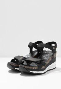 Panama Jack - NICA SPORT - Platform sandals - schwarz - 4