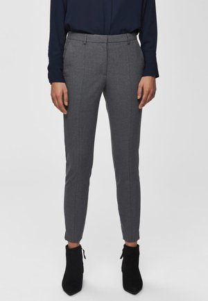 MID WAIST - Broek - medium grey melange