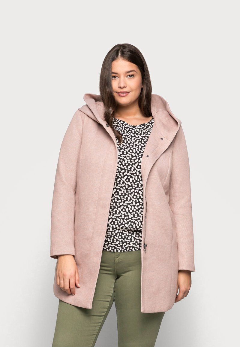 ONLY Carmakoma - CARSEDONA LIGHT COAT - Short coat - mocha mousse