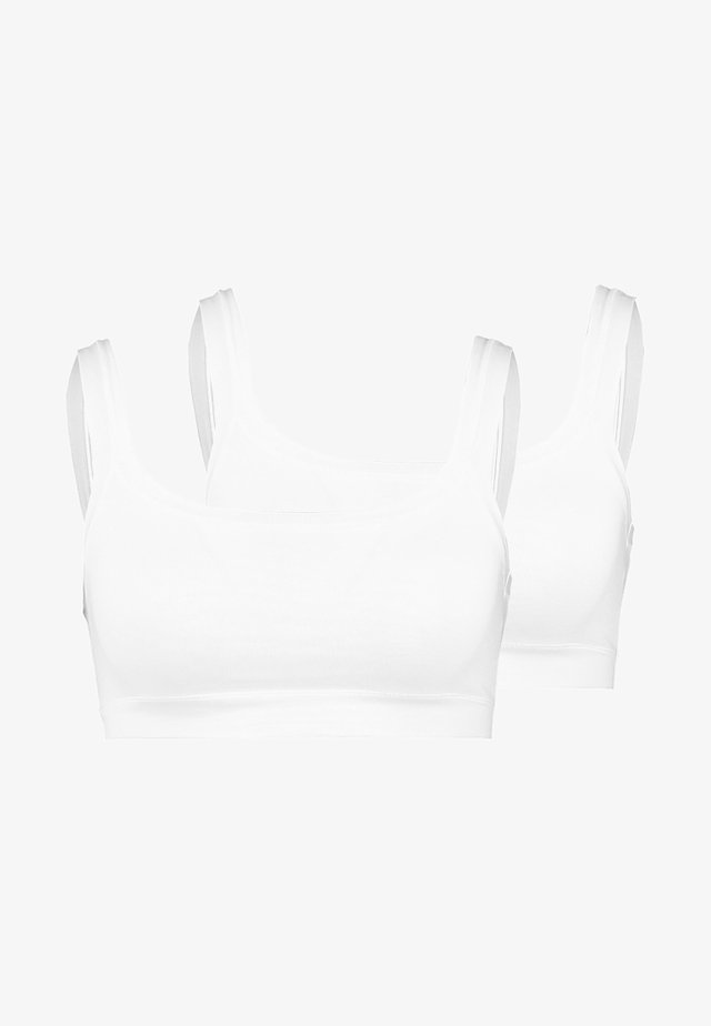 BRASSIERE 2 PACK - Bustier - white