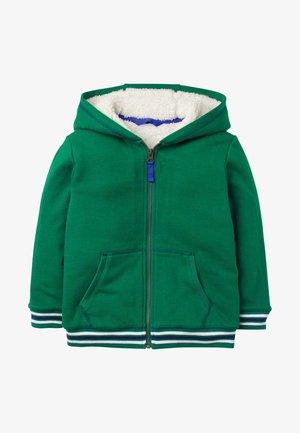 APPLIKATION - Zip-up hoodie - waldgrün, zug