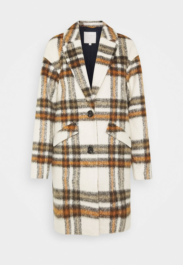 CHECK COCOON COAT - Classic coat - creme beige