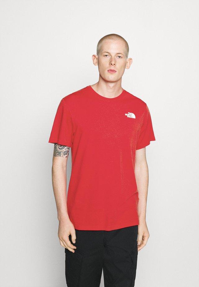 MESSAGE TEE - T-shirt imprimé - red