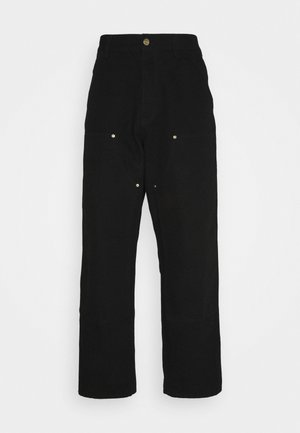 DOUBLE KNEE PANT DEARBORN - Kangashousut - black rinsed