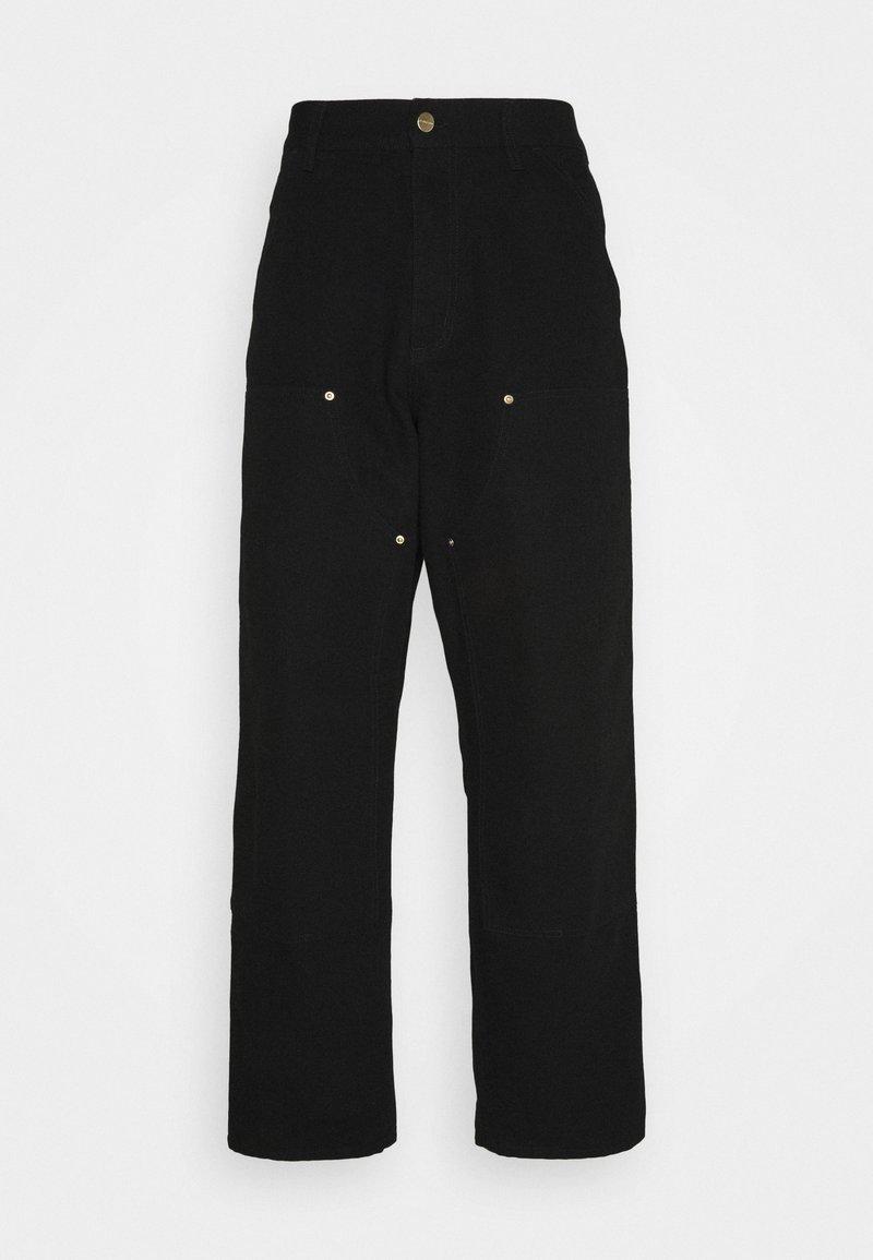 Carhartt WIP - DOUBLE KNEE PANT DEARBORN - Pantaloni - black rinsed