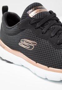 Skechers Sport - FLEX APPEAL 3.0 - Sneaker low - black/rose gold - 2