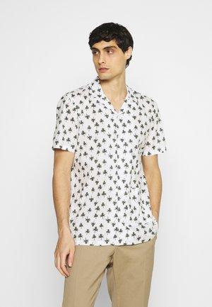 ANTON PALM PRINT - Koszula - bright white