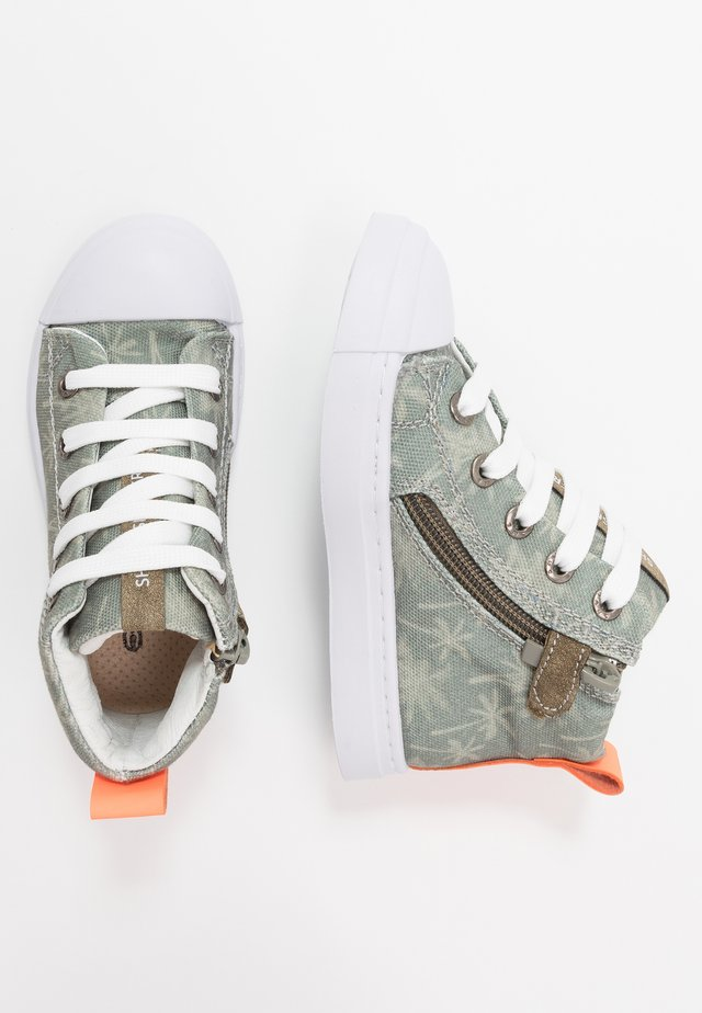 TRAINER - Korkeavartiset tennarit - army green