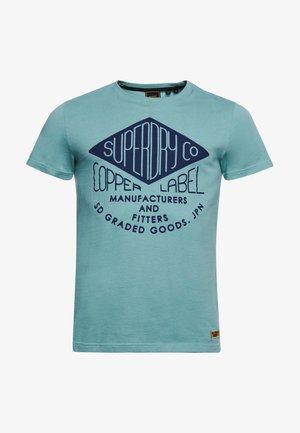 WORKWEAR GRAPHIC STANDARD - Print T-shirt - teal
