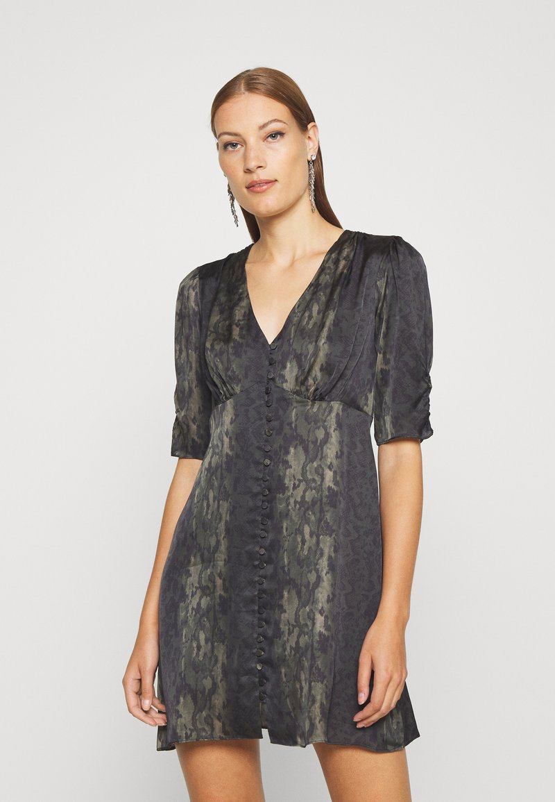 AllSaints - KOTA MASALA DRESS - Hverdagskjoler - forest green
