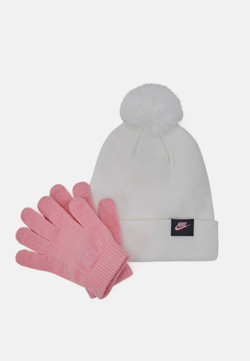 Nike Sportswear - FUTURA BEANIE GLOVE SET - Gloves - white