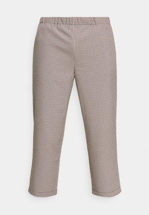 CHECKS CASUAL TROUSERS - Trousers - orange