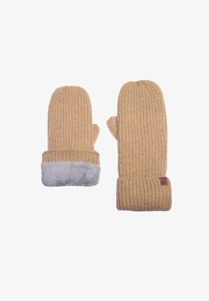 Fingerless gloves - dk yellow