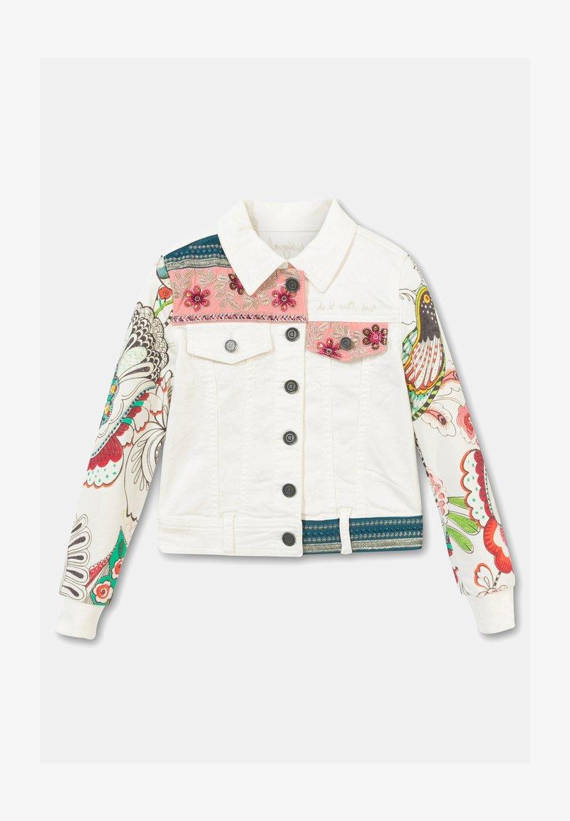 Desigual - CHAQ_ALDUMBERRI - Denim jacket - white