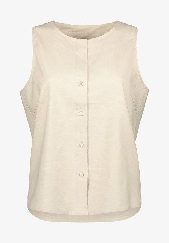 DRESS - Skjortklänning - olive khaki