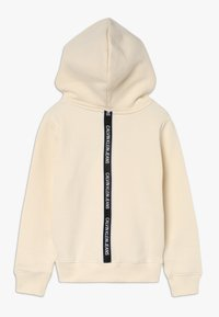 Calvin Klein Jeans - LOGO TAPE HOODIE - Kapuzenpullover - beige - 1
