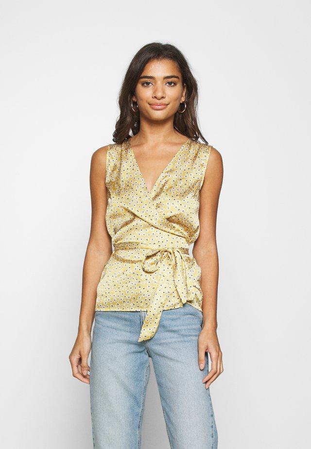 WRAP TOP - Blus - gold