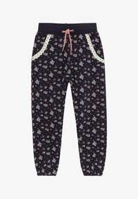 Blue Seven - KIDS FLORAL PRINT - Tracksuit bottoms - dark blue - 2