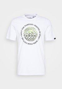 adidas Performance - Print T-shirt - white - 4
