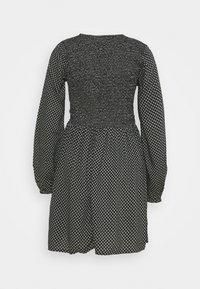 Dorothy Perkins - DITSY SHEERED MINI FIT AND FLARE - Kjole - black - 1