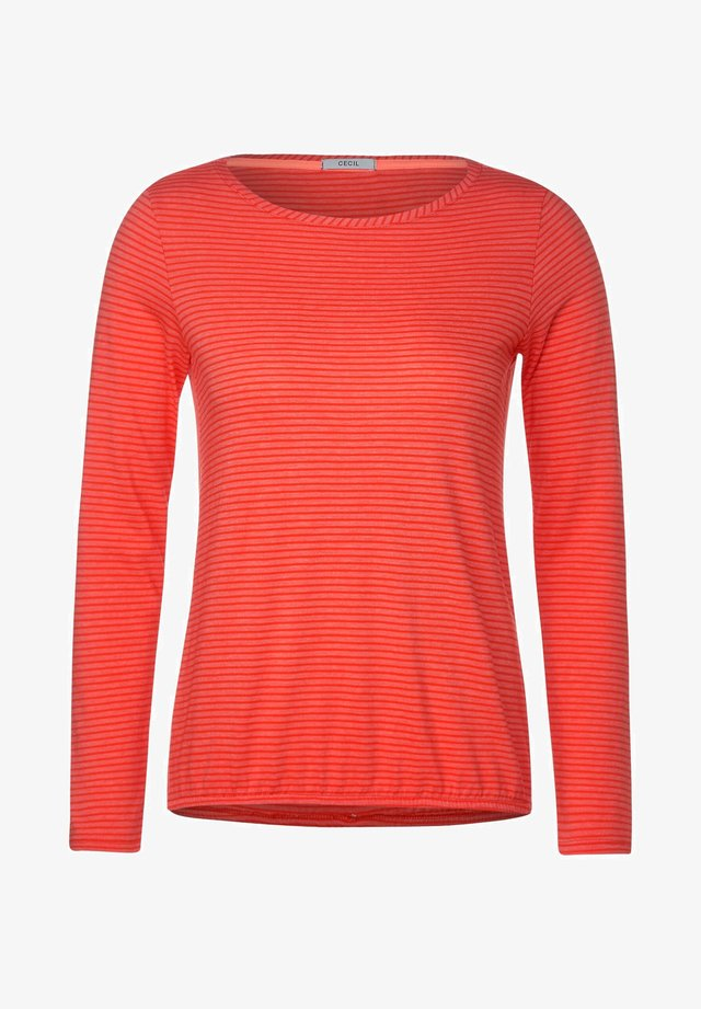 MIT STREIFEN - Long sleeved top - orange