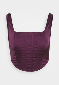 Missguided - CORSET - Bluser - burgundy