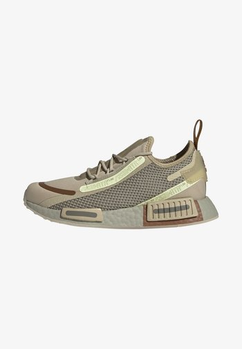 NMD_R1 SPEEDLINES BOOST SHOES - Trainers - savannah/feather grey/yellow tint