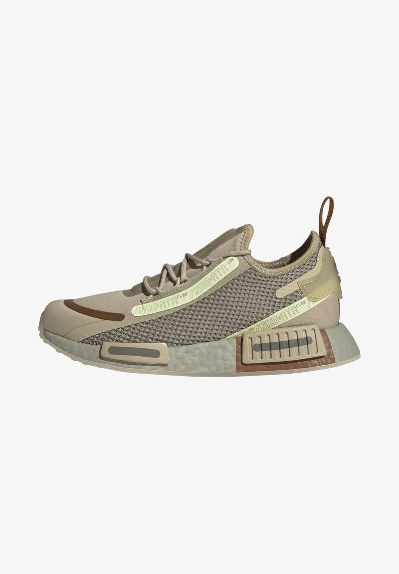 adidas Originals - NMD_R1 SPEEDLINES BOOST SHOES - Trainers - savannah/feather grey/yellow tint