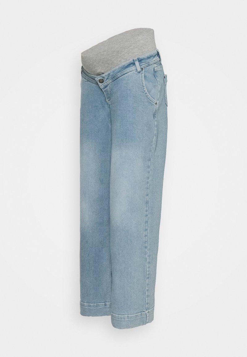 MAMALICIOUS - MLTRONA WIDE LEG - Straight leg jeans - light blue denim