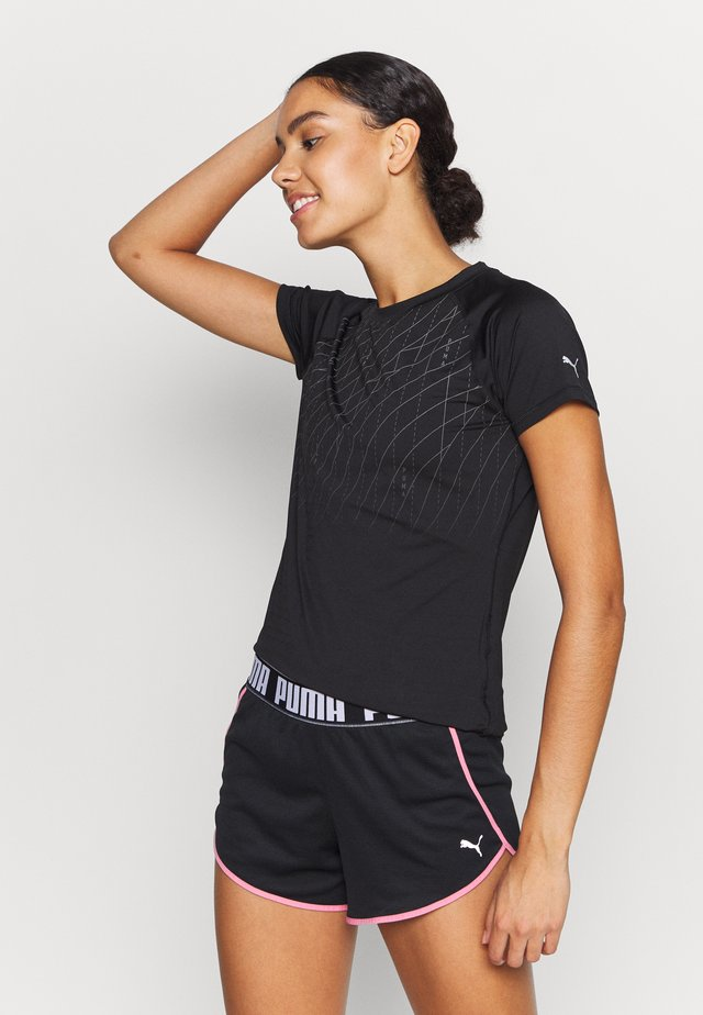 RUN GRAPHIC TEE - T-shirt con stampa - black