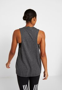 adidas Performance - WINNERS TANK - Topper - black melange - 2