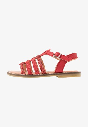 LEATHER - Sandals - red