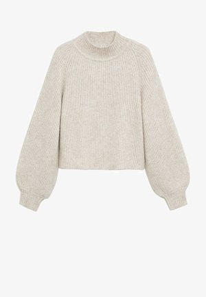 MERLO - Stickad tröja - hellgrau/pastellgrau