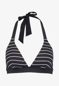 MOONRISE BEACH PADDED HALTERNECK - Bikini top - black