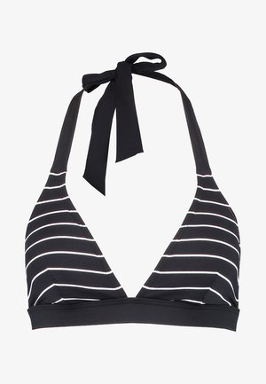 MOONRISE BEACH PADDED HALTERNECK - Bikini top - black