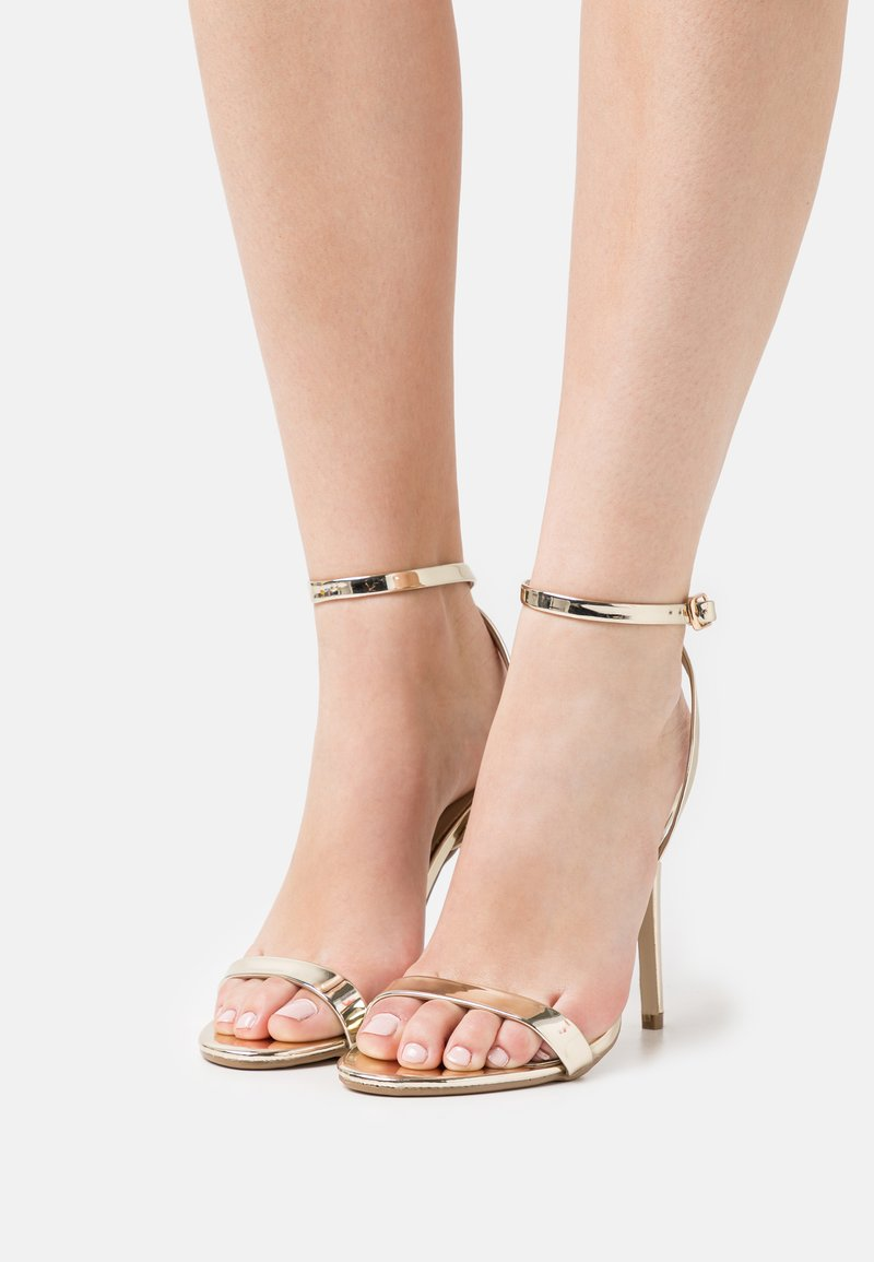 Missguided - BASIC BARELY THERE - Sandalias de tacón - gold
