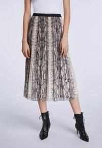 SET - A-line skirt - light stone grey - 0