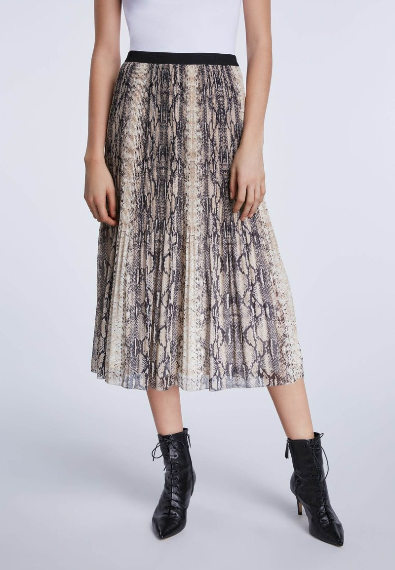SET - A-line skirt - light stone grey