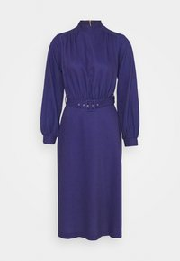 Closet - HIGH NECK MIDI DRESS - Day dress - navy - 0