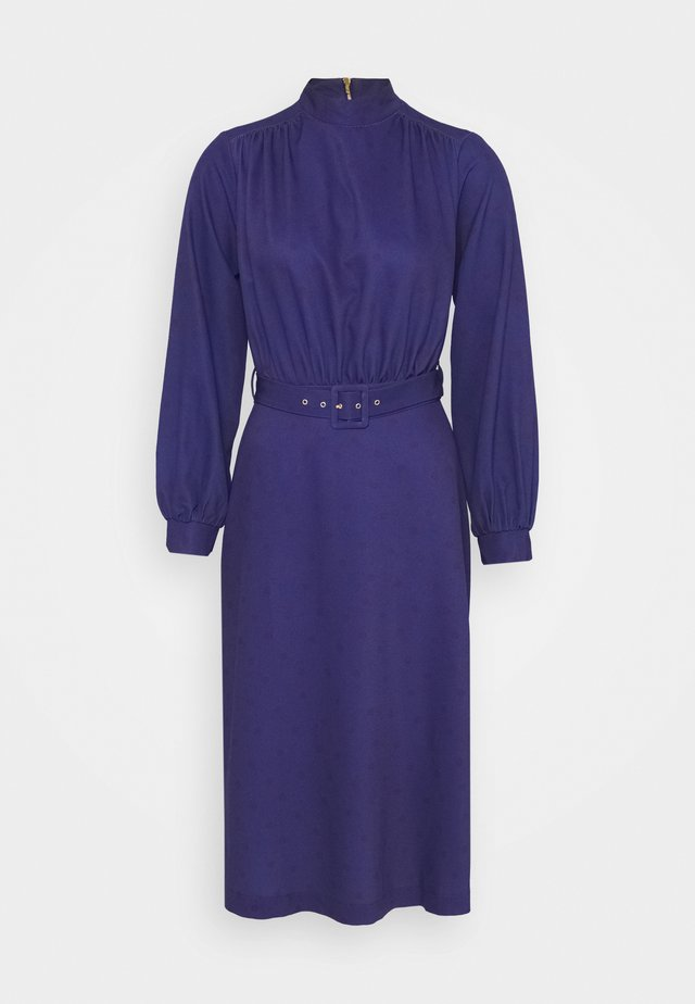 HIGH NECK MIDI DRESS - Robe d'été - navy