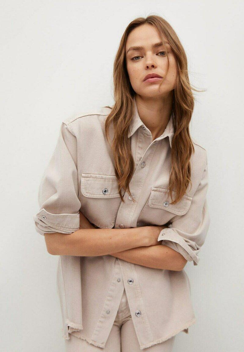 Mango - MAIA - Button-down blouse - beige