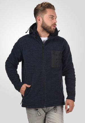 Zip-up hoodie - navy mix