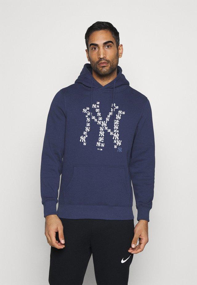 MLB NEW YORK YANKEES INFILL CORE GRAPHIC HOODIE - Klubbkläder - navy