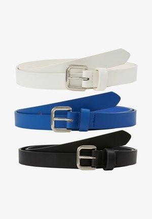 3 PACK - Pásek - black/blue/white