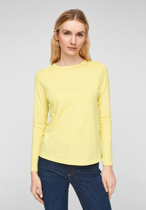 Long sleeved top - light yellow