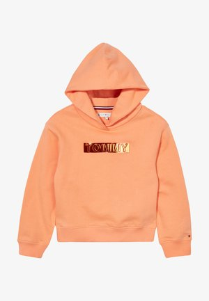 FOIL LABEL HOODIE - Hoodie - orange