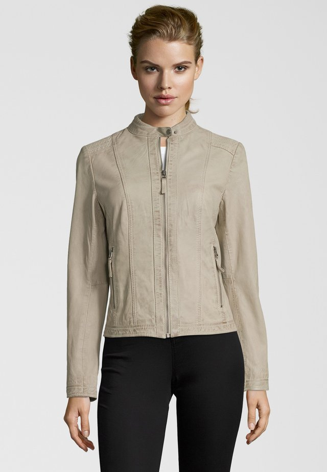 RESI - Leather jacket - kitt