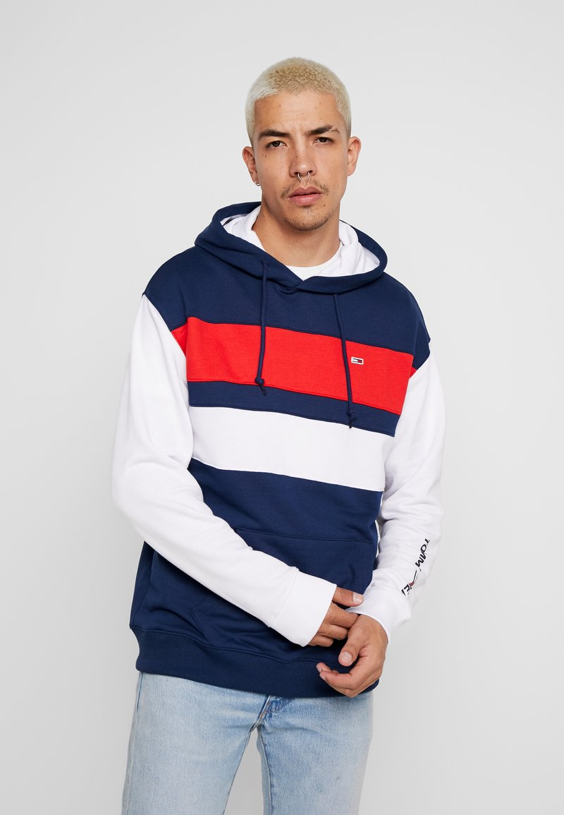 Tommy Jeans - COLORBLOCK HOODIE  - Sweat à capuche - black iris