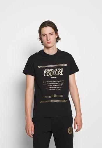 T-shirt imprimé - nero/oro